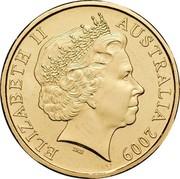 Australia One Dollar Dorothy Wall-Blinky Bill 2009 KM# 1077 ELIZABETH II AUSTRALIA 2011 IRB coin obverse