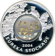 Australia One Dollar Eureka Stockade 2004 KM# 740 EUREKA STOCKADE 2004 coin reverse