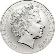 Australia One Dollar Kangaroo 2006 KM# 837a ELIZABETH II AUSTRALIA 2006 IRB coin obverse