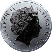 Australia One Dollar Kangaroo mother and joey 2007 KM# 850 ELIZABETH II AUSTRALIA 2007 IRB coin obverse