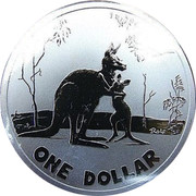 Australia One Dollar Kangaroo mother and joey 2007 KM# 850 ROLF ONE DOLLAR coin reverse