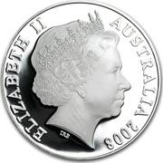 Australia One Dollar Koalas with Football 2008 KM# 1061a ELIZABETH II AUSTRALIA 2008 IRB coin obverse