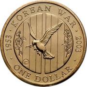 Australia One Dollar Korean War Remembrance 2003 KM# 663 1953 KOREAN WAR 2003 ONE DOLLAR C coin reverse