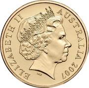 Australia One Dollar Norman Lindsay - The Magic Pudding 2007 KM# 829 ELIZABETH II AUSTRALIA 2007 IRB coin obverse