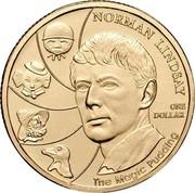 Australia One Dollar Norman Lindsay - The Magic Pudding 2007 KM# 829 NORMAN LINDSAY ONE DOLLAR THE MAGIC PUDDING coin reverse