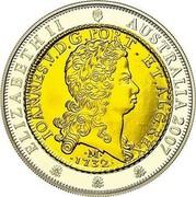Australia One Dollar One Johanna 2007 Proo KM# 1438 ELIZABETH II AUSTRALIA 2007 IOANNES.V.D.G.PORT.ET.ALG.REX M 1732 coin obverse