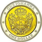Australia One Dollar One Johanna 2007 Proo KM# 1438 ONE JOHANNA ONE DOLLAR coin reverse