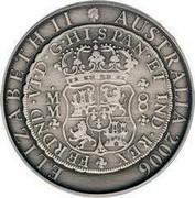 Australia One Dollar Pillar Dollar 2006 KM# 826 ELIZABETH II AUSTRALIA 2006 FERDND VID G HISPAN ET IND REX coin obverse