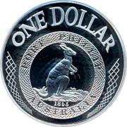Australia One Dollar Port Phillip Patterns 2003 KM# 763 ONE DOLLAR PORT PHILLIP 1853 AUSTRALIA coin reverse