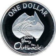 Australia One Dollar Year of the Outback 2002 KM# 600.1a ONE DOLLAR 2002 YEAR OF THE OUTBACK coin reverse