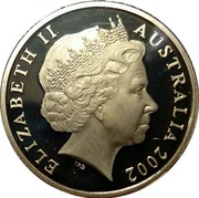 Australia One Dollar Year of the Outback (Colorized) 2002 KM# 600.2 ELIZABETH II AUSTRALIA 2002 IRB coin obverse