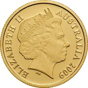 Australia Ten Dollars Kangaroo 2009 P Proof KM# 1083d ELIZABETH II AUSTRALIA 2009 coin obverse