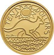 Australia Ten Dollars Kangaroo 2009 P Proof KM# 1083d TEN DOLLARS coin reverse