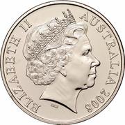 Australia Twenty Cents (Year of Planet Earth) KM# 1058 ELIZABETH II AUSTRALIA 2008 IRB coin obverse