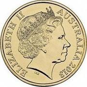 Australia Two Dollars Coronation Jubilee 2013 KM# 2153 ELIZABETH II AUSTRALIA 2013 IRB coin obverse
