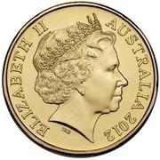 Australia Two Dollars Remembrance Day 2012 KM# 2007 ELIZABETH II AUSTRALIA 2012 IRB coin obverse