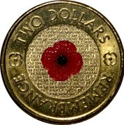 Australia Two Dollars Remembrance Day 2012 KM# 1864 TWO DOLLARS LEST WE FORGET REMEMBRANCE DAY REMEMBRANCE coin reverse