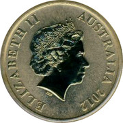 Australia $1 Celebrate Australia - Fraser Island 2012 KM# 1822 ELIZABETH II AUSTRALIA 2012 IRB coin obverse