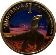 Australia $1 Celebrate Australia - Uluru-Kata Tjuta National Park 2012 KM# 1821 AUSTRALIA $1 ULURU-KATA TJUTA NATIONAL PARK P coin reverse