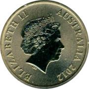 Australia $1 Celebrate Australia - Willandra Lakes Region 2012 KM# 1824 ELIZABETH II AUSTRALIA 2012 IRB coin obverse
