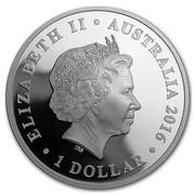 Australia 1 Dollar 75th Anniv of WWII - Rats of Tobruk 2016 ELIZABETH II AUSTRALIA 2016 1 DOLLAR IRB coin obverse