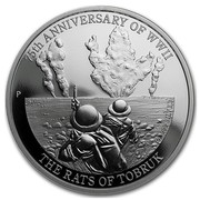 Australia 1 Dollar 75th Anniv of WWII - Rats of Tobruk 2016 75TH ANNIVERSARY OF WWII THE RATS OF TOBRUK 1 OZ 999 SILVER P JM coin reverse