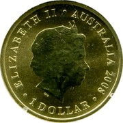 Australia 1 Dollar 90th Anniversary of the End of WWI 2008 ELIZABETH II ∙ AUSTRALIA 2008 ∙ 1 DOLLAR IRB coin obverse