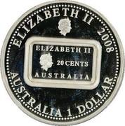 Australia 1 Dollar Anniversary of the Rum Rebellion 2008  ELIZABETH II 2008 AUSTRALIA 1 DOLLAR coin obverse