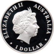 Australia 1 Dollar Australian Antarctic Territory - Emperor Penguin 2012 KM# 1826 ELIZABETH II AUSTRALIA 1 DOLLAR IRB coin obverse