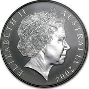 Australia 1 Dollar Australian Kangaroo 2004 KM# 723 ELIZABETH II AUSTRALIA 2004 IRB coin obverse
