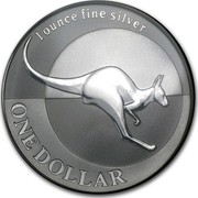 Australia 1 Dollar Australian Kangaroo 2004 KM# 723 ONE DOLLAR 1 OUNCE FINE SILVER coin reverse