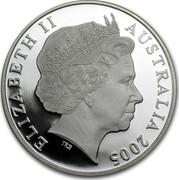 Australia 1 Dollar Australian Kangaroo 2005 KM# 749 ELIZABETH II AUSTRALIA 2005 IRB coin obverse