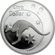 Australia 1 Dollar Australian Kangaroo 2005 KM# 749 ONE DOLLAR 1 OUNCE FINE SILVER coin reverse