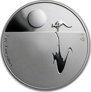 Australia 1 Dollar Australian Kangaroo 2010 F15 Privy Mark KM# 1762 1 OZ. FINE SILVER coin reverse