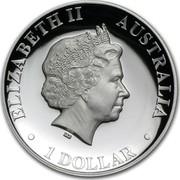 Australia 1 Dollar Australian Kangaroo 2011 KM# 1605 ELIZABETH II AUSTRALIA 1 DOLLAR IRB coin obverse