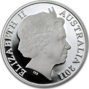 Australia 1 Dollar Australian Kangaroo 2011 Frosted Uncirculated KM# 1759 ELIZABETH II AUSTRALIA 2011 IRB coin obverse
