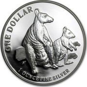 Australia 1 Dollar Australian Kangaroo 2011 Frosted Uncirculated KM# 1759 ONE DOLLAR 1 OUNCE FINE SILVER coin reverse