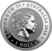 Australia 1 Dollar Australian Koala on a branch 2010 KM# 1464 ELIZABETH II AUSTRALIA 2010 1 DOLLAR IRB coin obverse