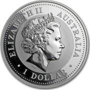 Australia 1 Dollar Australian Kookaburra 2005 KM# 883a ELIZABETH II AUSTRALIA 1 DOLLAR IRB coin obverse