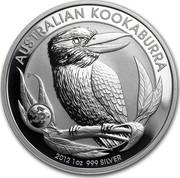 Australia 1 Dollar Australian Kookaburra on a branch 2012 Privy Dragon KM# 1692 AUSTRALIAN KOOKABURRA 2012 1 OZ 999 SILVER P coin reverse
