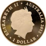 Australia 1 Dollar Australian Olympic Team 2012 KM# 1748 ELIZABETH II AUSTRALIA 2012 1 DOLLAR IRB coin obverse