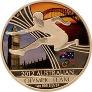 Australia 1 Dollar Australian Olympic Team 2012 KM# 1748 2012 AUSTRALIAN OLYMPIC TEAM 1 OZ 999 SILVER P coin reverse