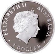 Australia 1 Dollar Discover Australia - Bell Frog 2012 KM# 1706 ELIZABETH II AUSTRALIA 1 DOLLAR IRB coin obverse