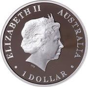 Australia 1 Dollar Discover Australia - Goanna 2012 KM# 1709 ELIZABETH II AUSTRALIA 1 DOLLAR IRB coin obverse