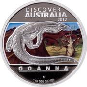 Australia 1 Dollar Discover Australia - Goanna 2012 KM# 1709 DISCOVER AUSTRALIA 2012 GOANNA P 1 OZ 999 SILVER NM coin reverse