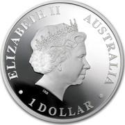 Australia 1 Dollar Discover Australia - Kangaroo 2012 KM# 1707 ELIZABETH II AUSTRALIA 1 DOLLAR IRB coin obverse