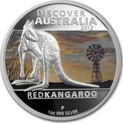 Australia 1 Dollar Discover Australia - Kangaroo 2012 KM# 1707 DISCOVER AUSTRALIA 2012 RED KANGAROO P 1 OZ 999 SILVER NM coin reverse
