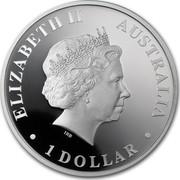 Australia 1 Dollar Discover Australia - Kookaburra 2012 KM# 1708 ELIZABETH II AUSTRALIA 1 DOLLAR IRB coin obverse