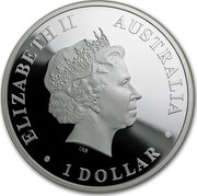Australia 1 Dollar Discover Australia - Tasmanian Devil 2011 KM# 1540 ELIZABETH II AUSTRALIA 1 DOLLAR IRB coin obverse