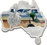 Australia 1 Dollar Emu 2012 KM# 1792 EMU 1 OZ 999 SILVER 2012 P IJ coin reverse